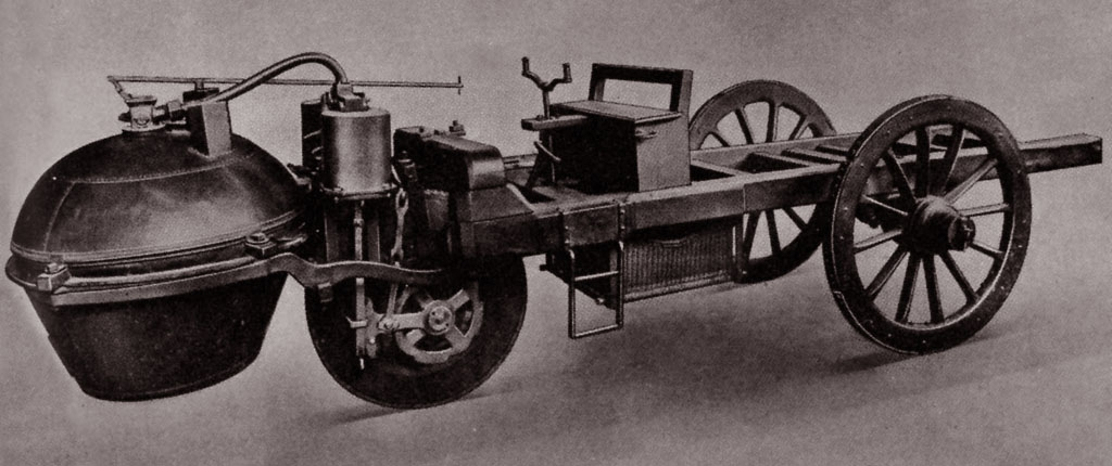 the history of the first self powered road vehicle Henry ford's first vehicle rode on four bicycle throughout its history, the self-contained rouge complex has ford motor company produces its first.